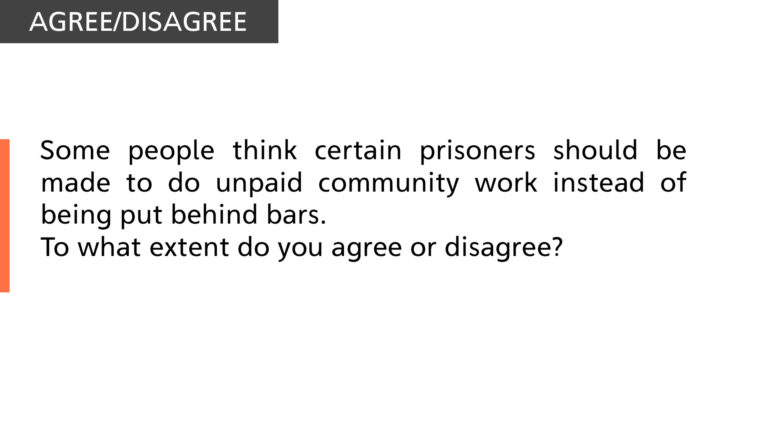 Certain prisoners should be made to do unpaid community work