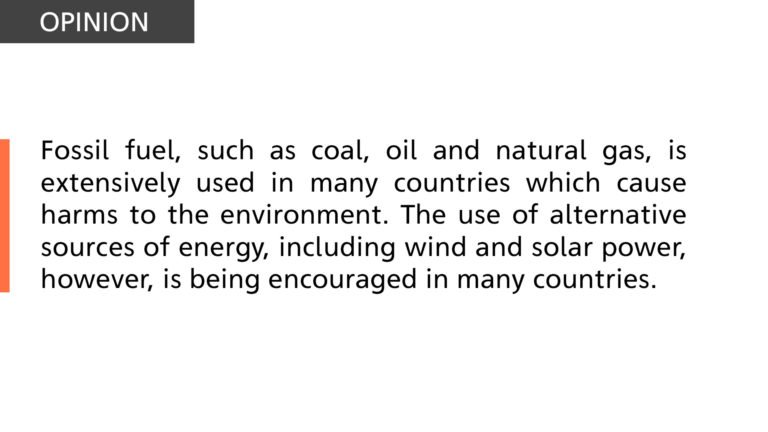 Fossil fuel is extensively used in many countries