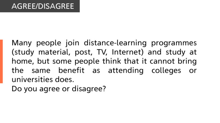 Many people join distance-learning programmes