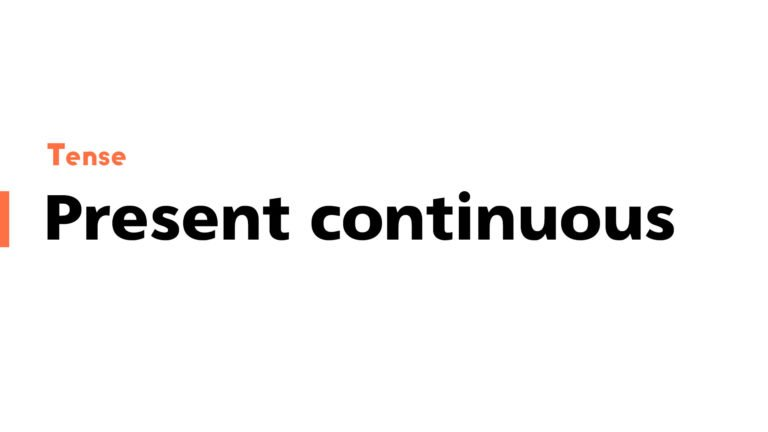 Present continuous featured image