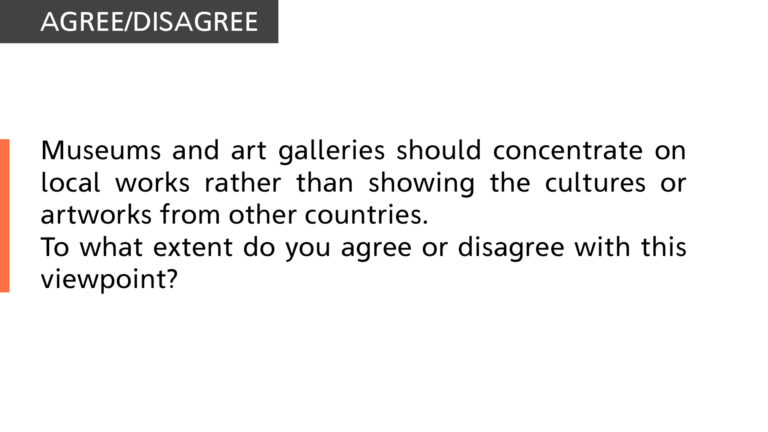 museums and art galleries should concentrate on local works