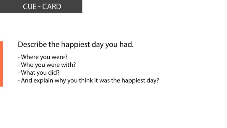 IELTS Speaking Describe the happiest day you had
