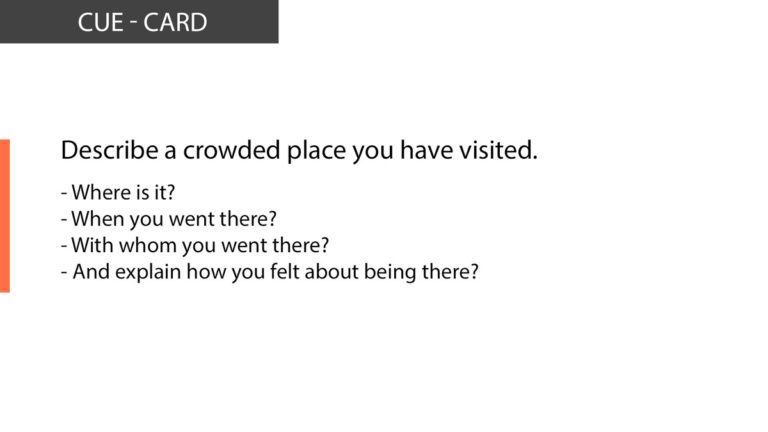 IELTS Speaking Describe a crowded place you have visited