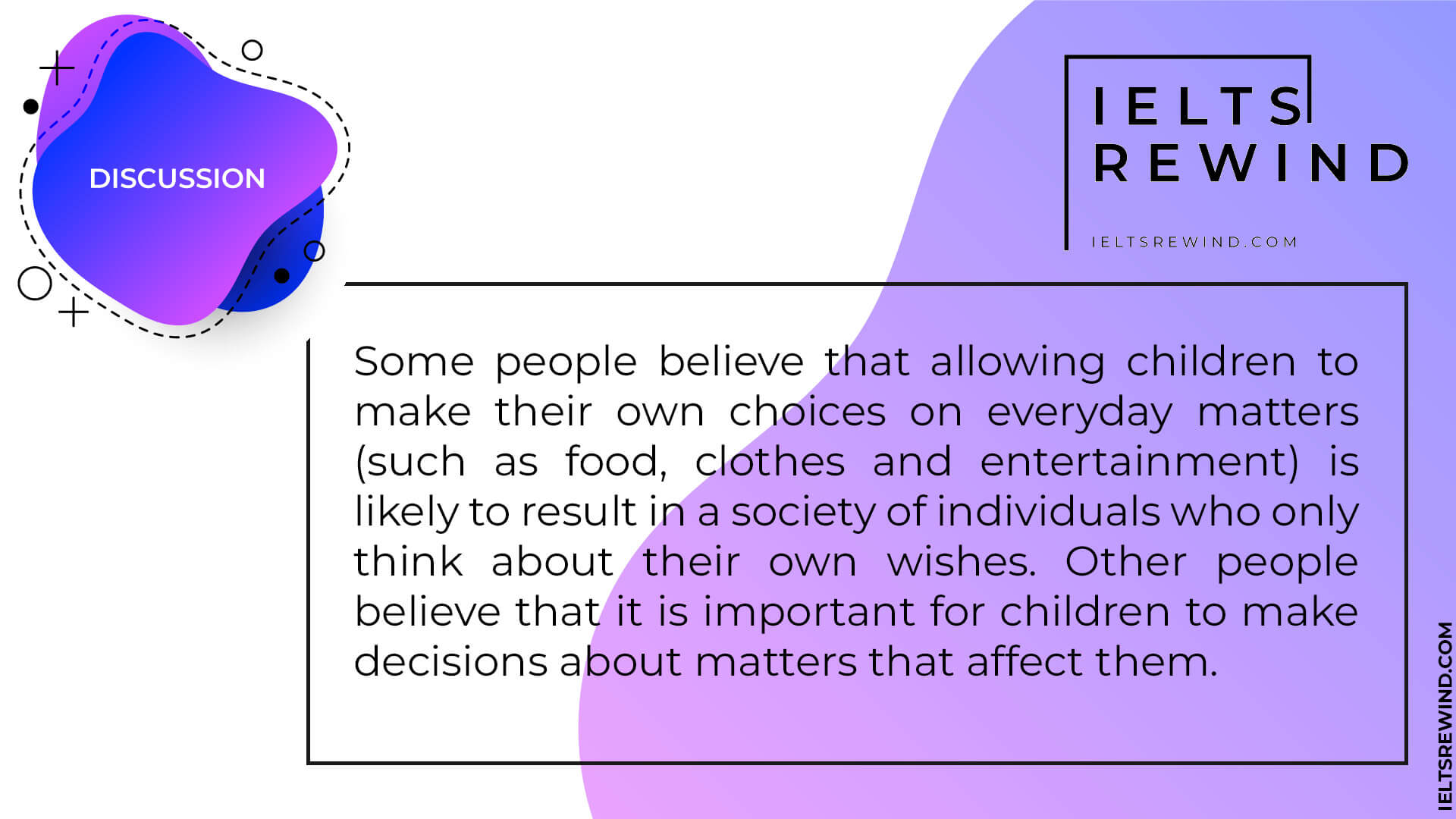 Allowing children to make their own choices 1