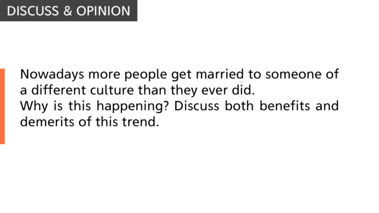 More people get married to someone of a different culture
