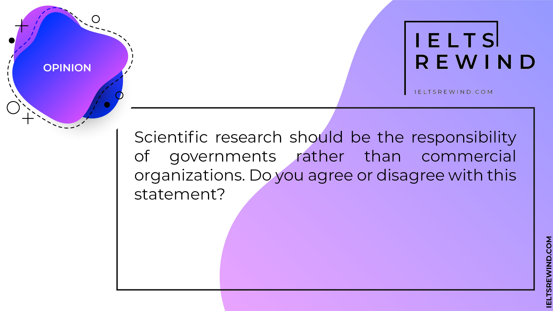 Scientific research should be the responsibility of governments