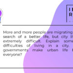 Some of the difficulties of living in a city