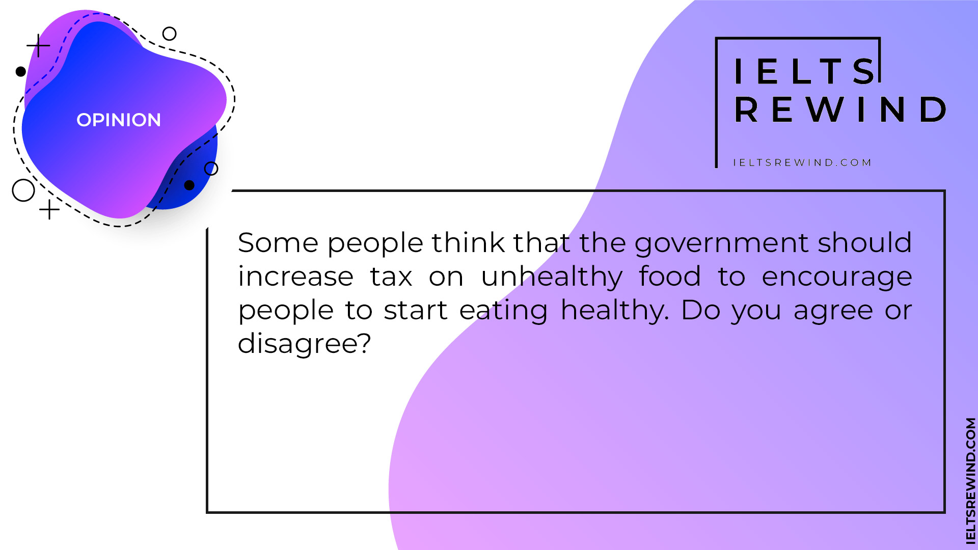 government should increase tax on unhealthy food