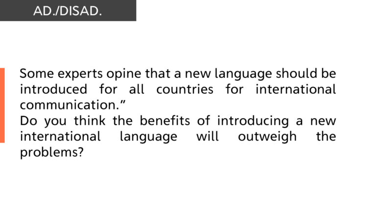 new language should be introduced for all countries