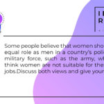 women should play an equal role as men
