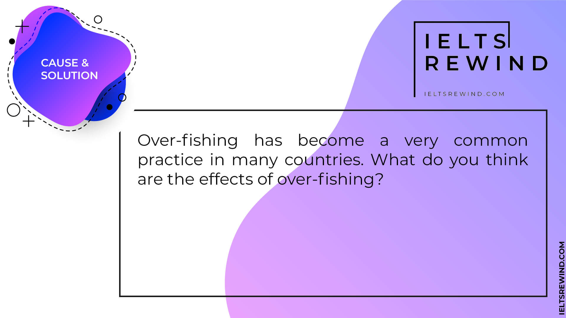 Over-fishing has become a very common