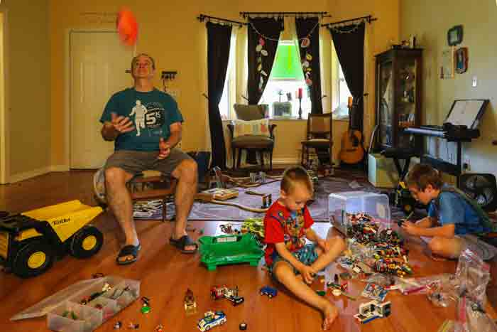 Some parents buy their children a large number of toys to play with